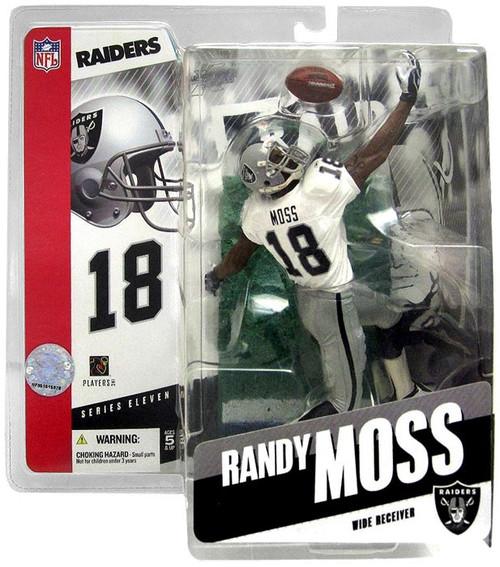 McFarlane Toys NFL Oakland Raiders Sports Picks Series 11 Randy Moss Action Figure [White Jersey]