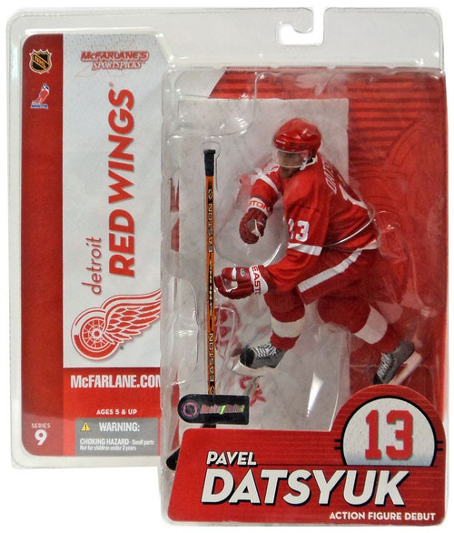 McFarlane Toys NHL Detroit Red Wings Sports Picks Series 9 Pavel Datsyuk Action Figure [Red Jersey Variant]
