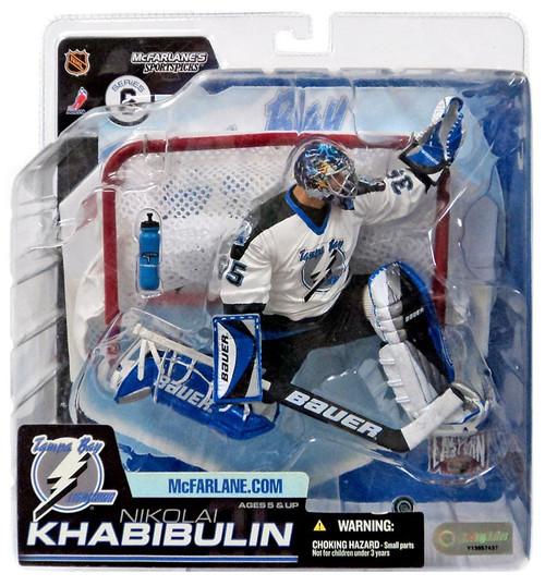 McFarlane Toys NHL Tampa Bay Lightning Sports Picks Series 6 Nikolai Khabibulin Action Figure [White Jersey]