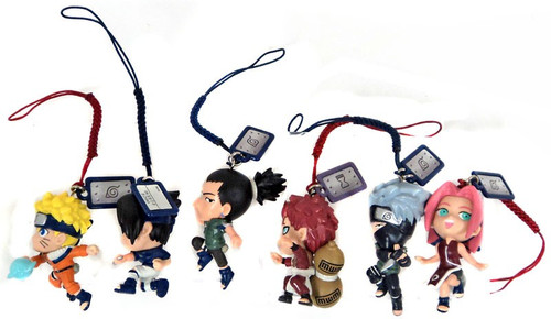 Naruto Set of 6 Phone Dangler Straps