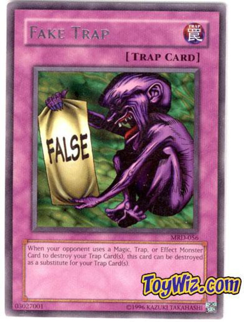 YuGiOh Metal Raiders Rare Fake Trap MRD-056