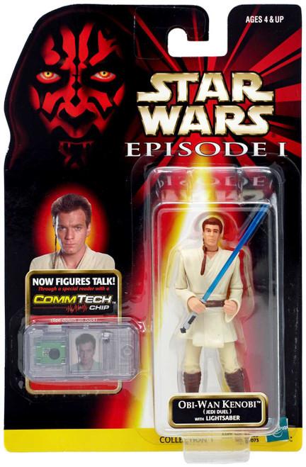 Star Wars Phantom Menace 1999 Episode I Basic Obi-Wan Kenobi Action Figure [Jedi Duel]