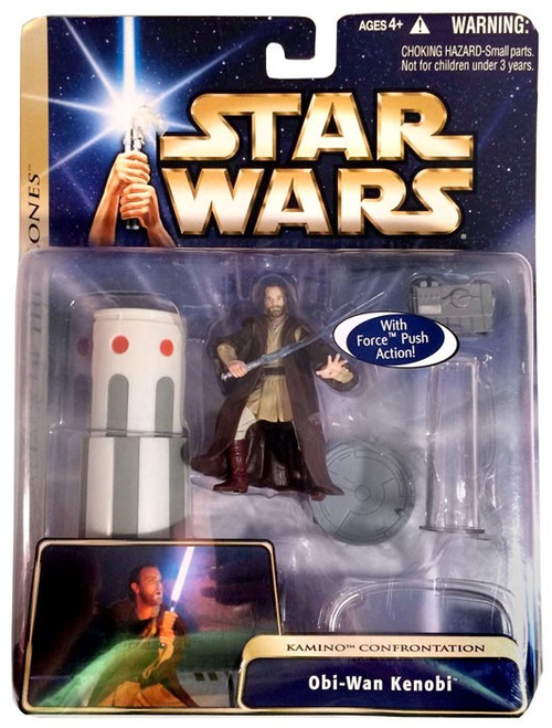 Star Wars Attack of the Clones Obi-Wan Kenobi Action Figure [Kamino Confrontation]