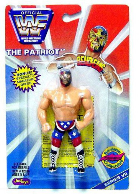 WWE Wrestling WWF Bend-Ems Series 7 The Patriot Rubber Figure