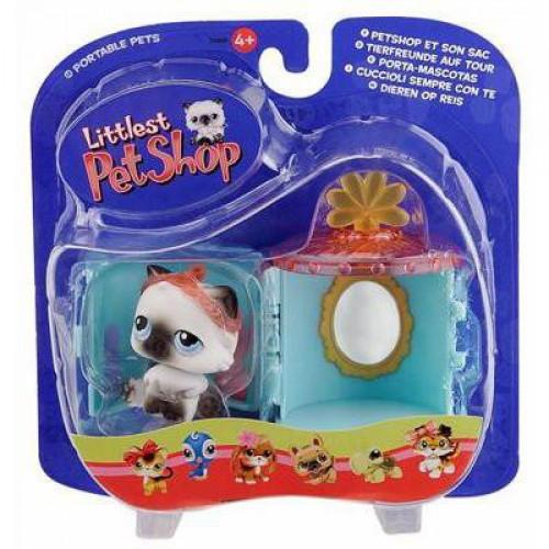 Littlest Pet Shop Pets on the Go Siamese Kitty Figure