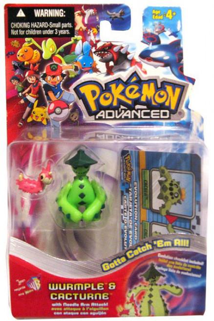 Pokemon Advanced Wurmple & Cacturn Mini Figure 2-Pack