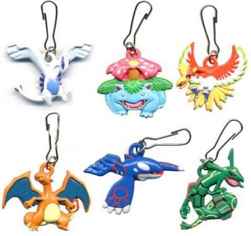 Pokemon Set of 8 Metal Keychain Mini Dangler Figures