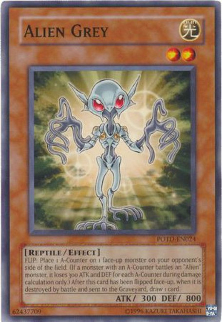 YuGiOh GX Trading Card Game Power of the Duelist Common Alien Grey POTD-EN024