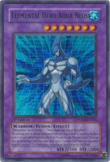 YuGiOh GX Trading Card Game Power of the Duelist Ultra Rare Elemental Hero Aqua Neos POTD-EN031