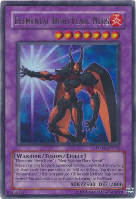 YuGiOh GX Trading Card Game Power of the Duelist Ultra Rare Elemental Hero Flare Neos POTD-EN032