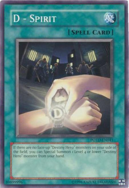 YuGiOh GX Trading Card Game Power of the Duelist Common D - Spirit POTD-EN041