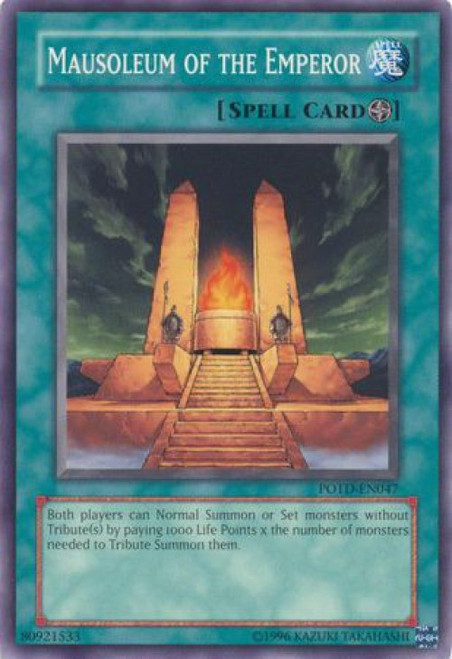 YuGiOh GX Trading Card Game Power of the Duelist Common Mausoleum of the Emperor POTD-EN047