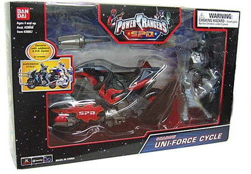 Power Rangers SPD Shadow Uni-Force Cycle Action Figure Vehicle