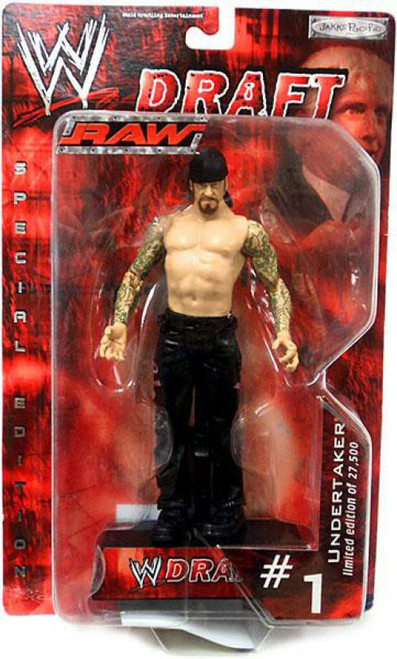 WWE Wrestling Raw Draft Undertaker Action Figure #1