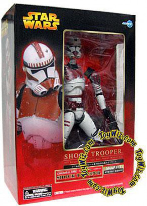 Star Wars ArtFX Snap Fit Red Shock Clone Trooper Exclusive Vinyl Statue [Episode III]