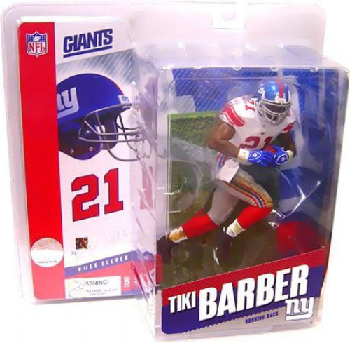McFarlane Toys NFL New York Giants Sports Picks Series 11 Tiki Barber Action Figure [Red Socks Variant]