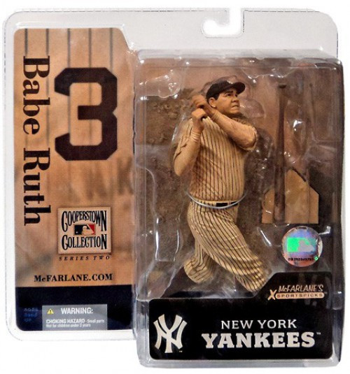 McFarlane Toys MLB Cooperstown Collection Series 2 Babe Ruth Action Figure [Vintage Sepia Uniform]
