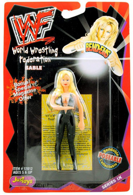 WWE Wrestling WWF Bend-Ems Series 9 Sable Action Figure