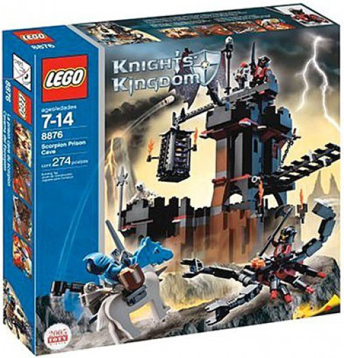 LEGO Knights Kingdom Scorpion Prison Cave Set #8876