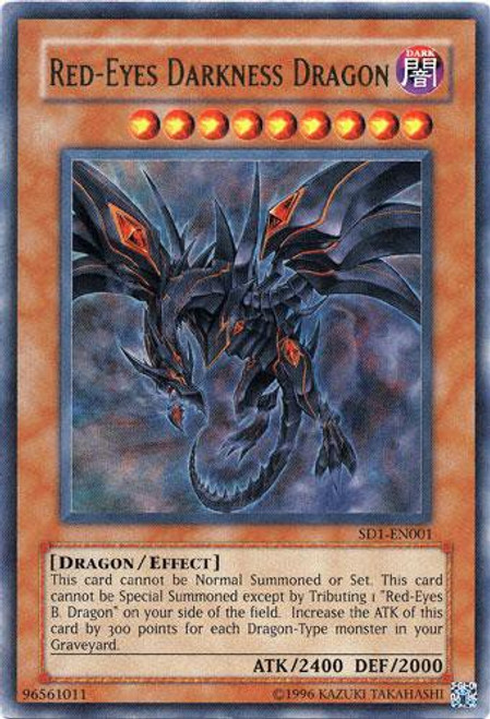 YuGiOh GX Trading Card Game Structure Deck: Dragon's Roar Ultra Rare Red-Eyes Darkness Dragon SD1-EN001