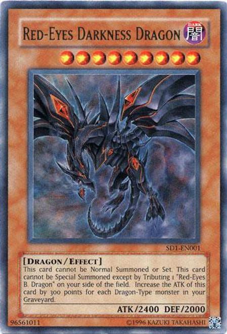 YuGiOh GX Structure Deck: Dragon's Roar Ultra Rare Red-Eyes Darkness Dragon SD1-EN001