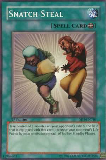 YuGiOh GX Trading Card Game Structure Deck: Dragon's Roar Snatch Steal SD1-EN010