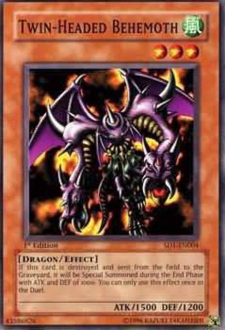 YuGiOh GX Trading Card Game Structure Deck: Dragon's Roar Twin Headed Behemoth SD1-EN004