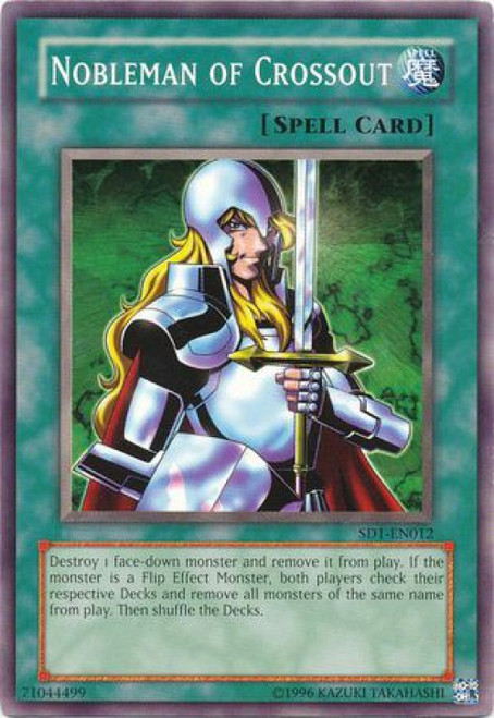 YuGiOh GX Trading Card Game Structure Deck: Dragon's Roar Common Nobleman of Crossout SD1-EN012
