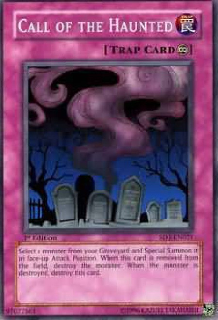 YuGiOh GX Trading Card Game Structure Deck: Dragon's Roar Common Call of the Haunted SD1-EN021