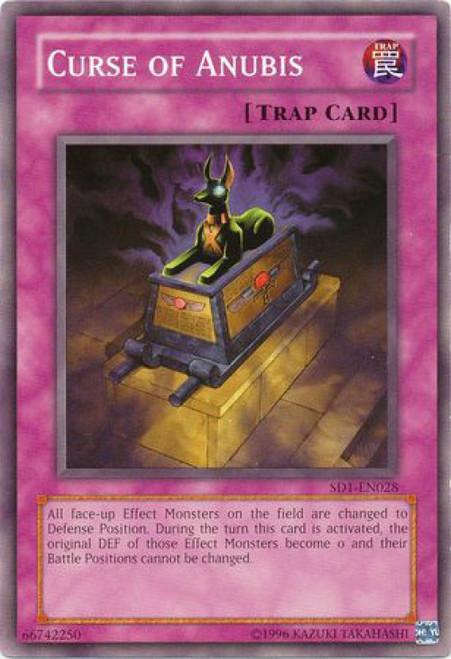YuGiOh GX Trading Card Game Structure Deck: Dragon's Roar Common Curse of Anubis SD1-EN028