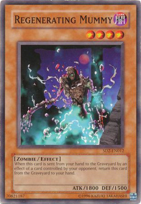 YuGiOh GX Trading Card Game Structure Deck: Zombie Madness Regenerating Mummy SD2-EN012