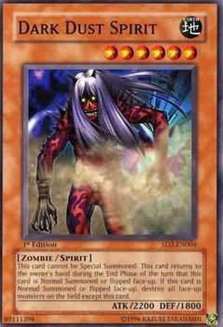 YuGiOh GX Trading Card Game Structure Deck: Zombie Madness Common Dark Dust Spirit SD2-EN004