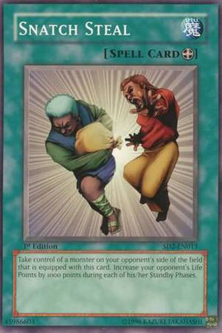 YuGiOh GX Trading Card Game Structure Deck: Zombie Madness Common Snatch Steal SD2-EN013
