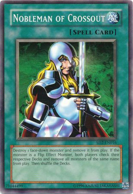 YuGiOh GX Trading Card Game Structure Deck: Zombie Madness Common Nobleman of Crossout SD2-EN016