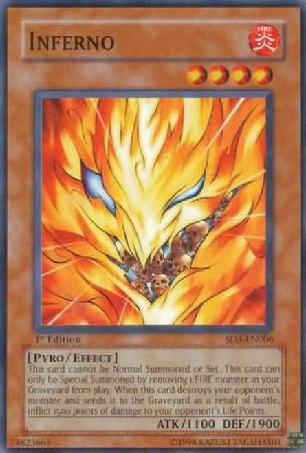 YuGiOh Structure Deck: Blaze of Destruction Inferno SD3-EN006