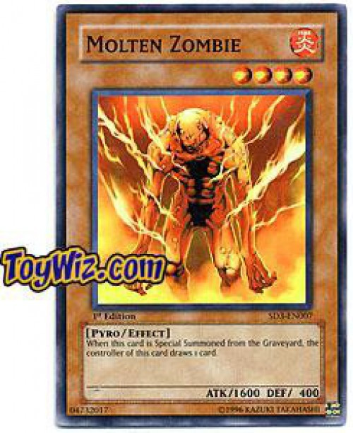 YuGiOh Structure Deck: Blaze of Destruction Molten Zombie SD3-EN007