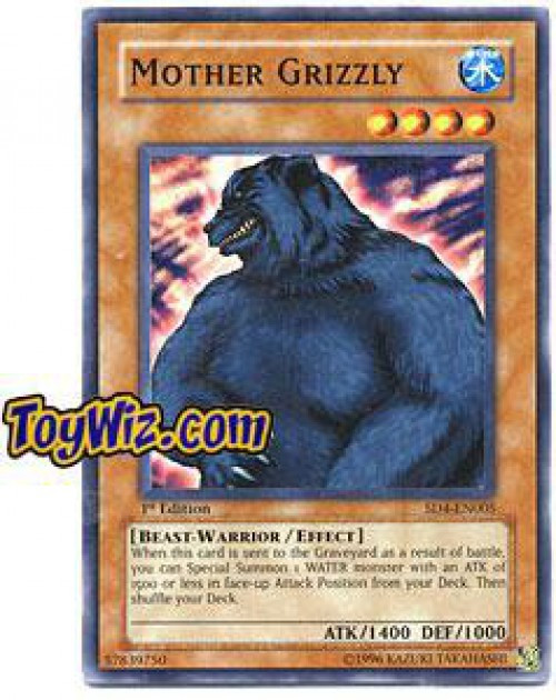 YuGiOh GX Trading Card Game Structure Deck: Fury from the Deep Common Mother Grizzly SD4-EN005