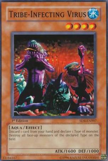 YuGiOh GX Trading Card Game Structure Deck: Fury from the Deep Common Tribe-Infecting Virus SD4-EN007