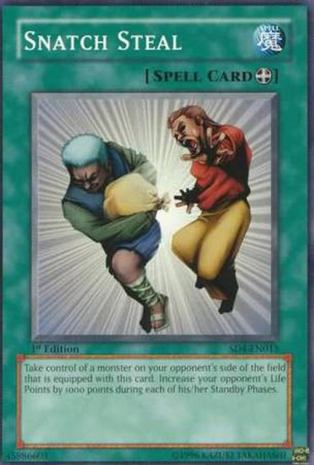 YuGiOh GX Trading Card Game Structure Deck: Fury from the Deep Common Snatch Steal SD4-EN015