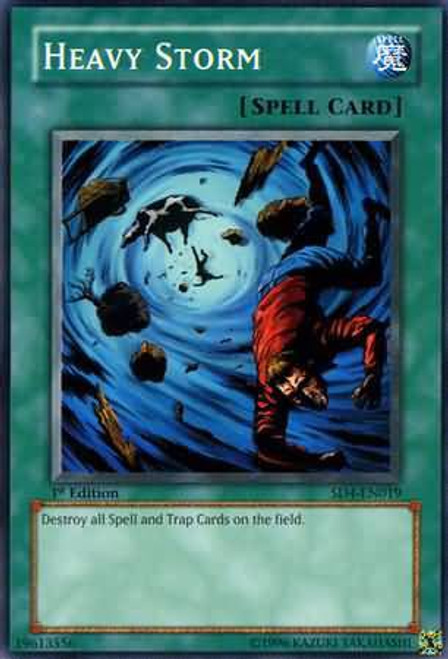 YuGiOh GX Trading Card Game Structure Deck: Fury from the Deep Common Heavy Storm SD4-EN019