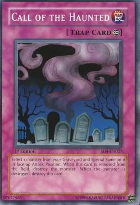 YuGiOh GX Trading Card Game Structure Deck: Fury from the Deep Common Call of the Haunted SD4-EN027