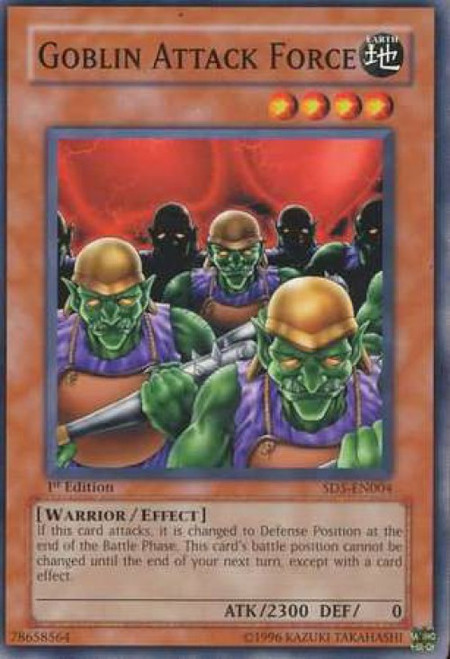 YuGiOh GX Trading Card Game Structure Deck: Warrior's Triumph Common Goblin Attack Force SD5-EN004