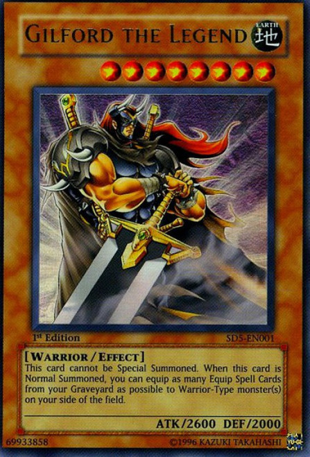 YuGiOh GX Trading Card Game Structure Deck: Warrior's Triumph Ultra Rare Gilford the Legend SD5-EN001