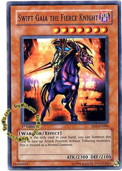 YuGiOh GX Trading Card Game Structure Deck: Warrior's Triumph Common Swift Gaia the Fierce Knight SD5-EN006