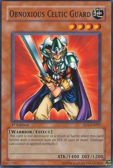 YuGiOh GX Trading Card Game Structure Deck: Warrior's Triumph Common Obnoxious Celtic Guard SD5-EN007