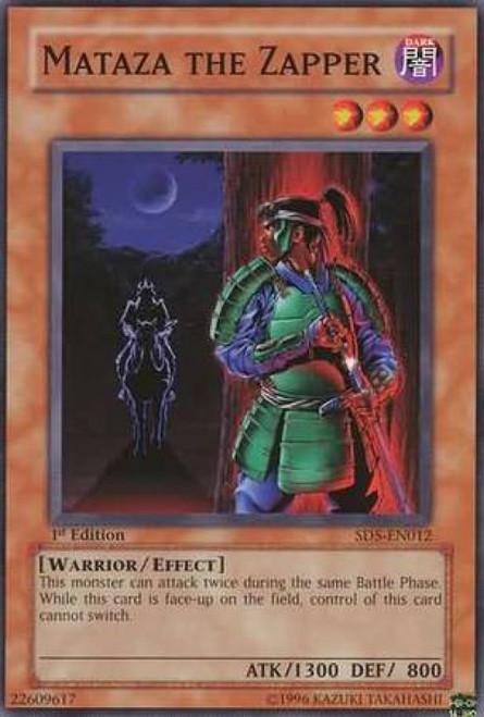 YuGiOh GX Trading Card Game Structure Deck: Warrior's Triumph Mataza the Zapper SD5-EN012