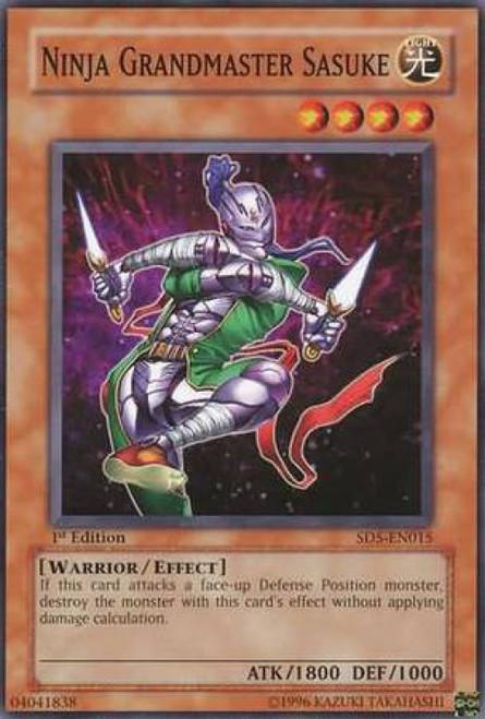 YuGiOh GX Trading Card Game Structure Deck: Warrior's Triumph Ninja Grandmaster Sasuke SD5-EN015