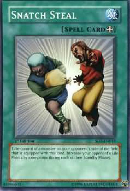 YuGiOh GX Trading Card Game Structure Deck: Warrior's Triumph Common Snatch Steal SD5-EN019