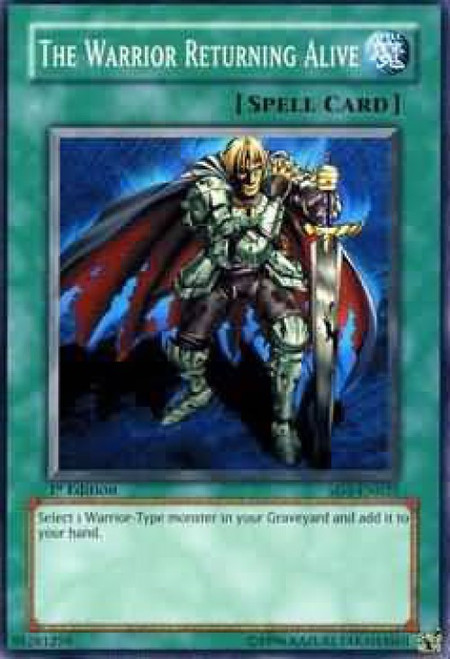 YuGiOh GX Trading Card Game Structure Deck: Warrior's Triumph The Warrior Returning Alive SD5-EN025