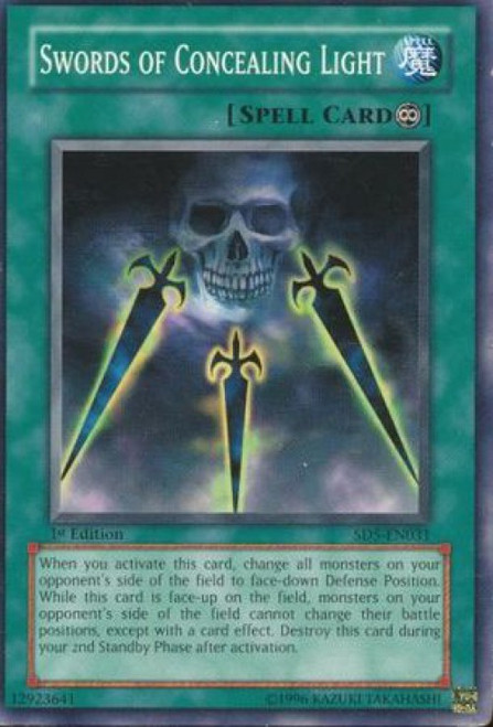YuGiOh GX Trading Card Game Structure Deck: Warrior's Triumph Swords of Concealing Light SD5-EN031